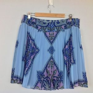 New Inc Skirt Womens 14 A-Line Pleat Boho
